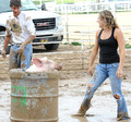 pig wrestling and powder river ranch rodeo